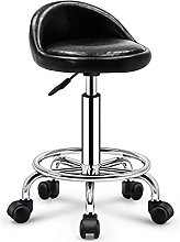 Bar Stools, Rolling Stool with Back, 360° Swivel