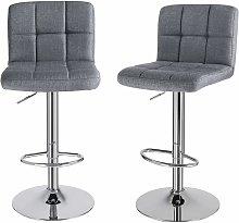 Bar Stools Set of 2, Height Adjustable Bar Chairs