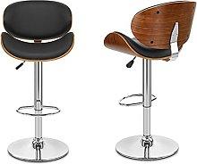 Bar stools set of 2 Modern Bar Stools Wooden Frame