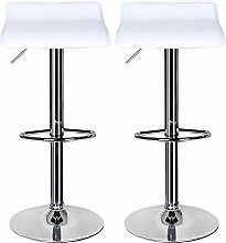 Bar Stools Set of 2,White Bar Stool for Kitchens