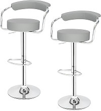 Bar Stools Set of 2 with Arms, Adjustable Swivel
