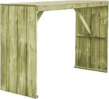 Bar Table 170x60x110 cm Impregnated Pinewood -