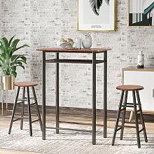 Bar Table Set, Bar Table with 2 Bar Stools, Dining