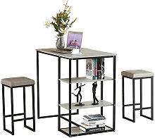 Bar Table W/ 2 Stools Kitchen Furniture Dining