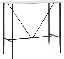 Bar Table White 120x60x110 cm MDF - White