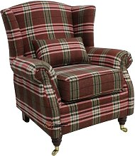 Barbara Wingback Chair Union Rustic Upholstery: Red