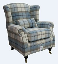 Barbara Wingback Chair Union Rustic Upholstery: Sky