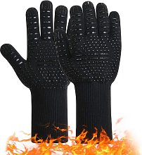 Barbecue gloves Anti-slip silicone oven gloves