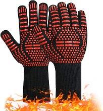 Barbecue gloves, non-slip silicone kitchen gloves,