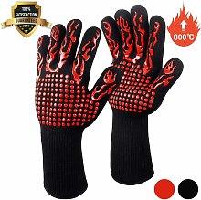 Barbecue Gloves, Oven Gloves, Non-Slip Silicone