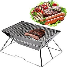 Barbecue Grill, Foldable Portable Compact Charcoal