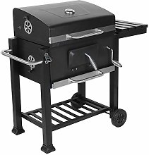 Barbecue Grill with Wheels, Charcoal Barbecue, BBQ