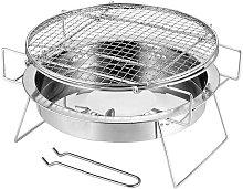 Barbecue Round Mini Foldable Stainless Steel