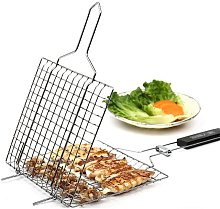 Barbecue tools, square grilles, stainless steel