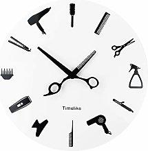 Barber Equiment Tools Wall Clock Modern Design