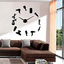 Barber Hair Tools Oversized DIY Wall Clock