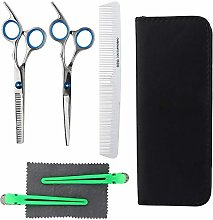 Barber Shears Set , 5pcs Professional Stainless