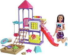 Barbie Skipper Playground Playset and 2 Dolls