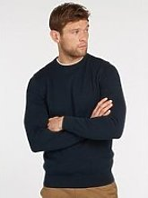 Barbour Crew Neck Jumper - Navy
