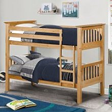 Barcelona Antique Solid Pine Wooden Bunk Bed Frame
