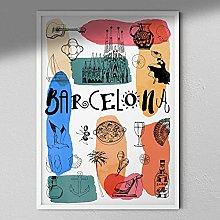 Barcelona Art Print - Map Wall Art | Travel Poster