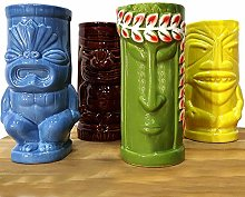 BarConic Tiki Mugs Drinkware Package 5 - Set of 4