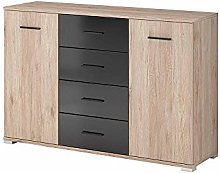 BARI Chest of Drawers Elegant Storage Cabinet with