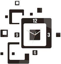 Bari Wall Clock Metro Lane Colour: Wenge/Silver