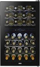Baridi 43 Bottle Dual Zone Wine Cooler, Fridge,