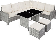 Barletta Rattan Garden Furniture Set - light grey