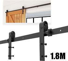Barn Pulley Door 5.9FT Hardware Kit Sliding Track