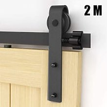 Barn Pulley Door 6.6FT Hardware Kit Sliding Track