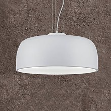 Baron conical hanging light, white
