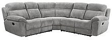 Baron Fabric Manual Recliner Corner Group Sofa