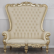 Baroque sofa Regina high back 2 seats French style