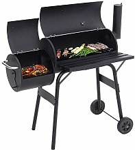 Barrel Charcoal Barbecue Outdoor Garden BBQ Grill