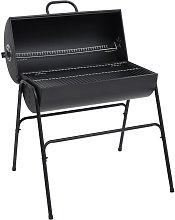 Barrel Grill with 2 Cooking Grids Black 80x95x90