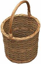 Barrel Shopping Wicker Basket Brambly Cottage
