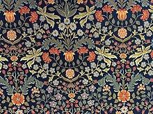 Barringto Morris Tapestry Navy Red Cotton 140cm