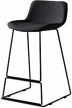 Barstool Furniture Linen With Backrest Bar Stool