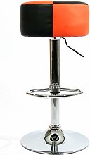 Barstools Orange/Black Faux Leather Swivel Height