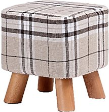 Barstools Solid wood shoe bench lazy stool adult