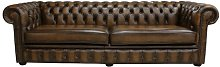 Barwen Genuine Leather 4 Seater Chesterfield Sofa