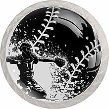 Baseball Cabinet Door Knobs Handles Pulls Cupboard