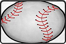 Baseball Game Doormat Rug Easy to Clean Non Slip
