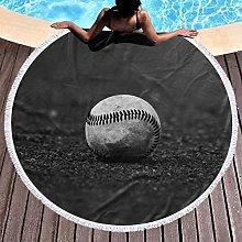 Baseball Printed Round Beach Towel Yoga Picnic Mat