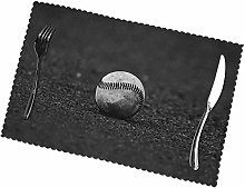 Baseball Printing Placemats for Dining Table Table