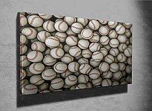 Baseballs Balls 3D Photo Canvas Print (44574839)