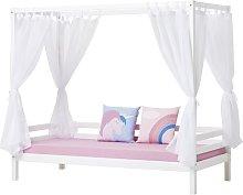 Basic Four Poster Bed Hoppekids Size: 70 x 190cm