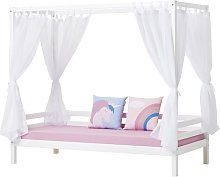 Basic Four Poster Bed Hoppekids Size: European